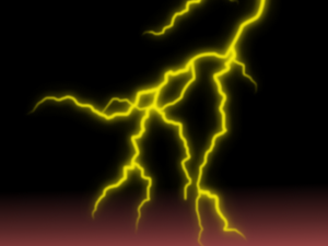 A lightining bolt created entirely in Gimp.