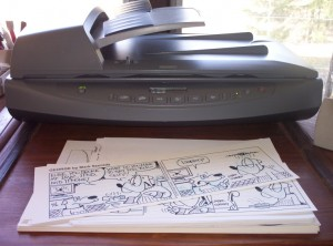 The HP Scanjet 8250 Scanner that I use in my studio.