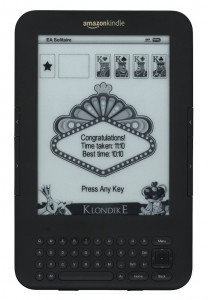 I won!  My Kindle displays a recent Solitaire win.