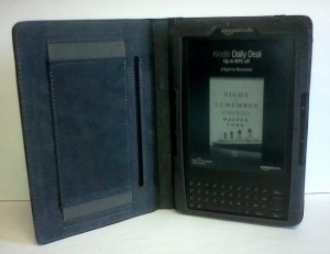 My Kindle housed in its new Mareware cover.