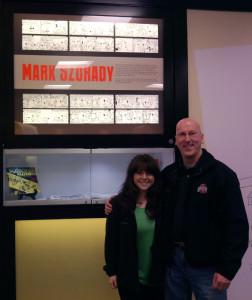 Mark and Kelly at OSU Cartoon Conference Room