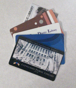 Mark's library cards