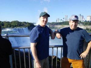 Mark and Jim at Niagara Falls.