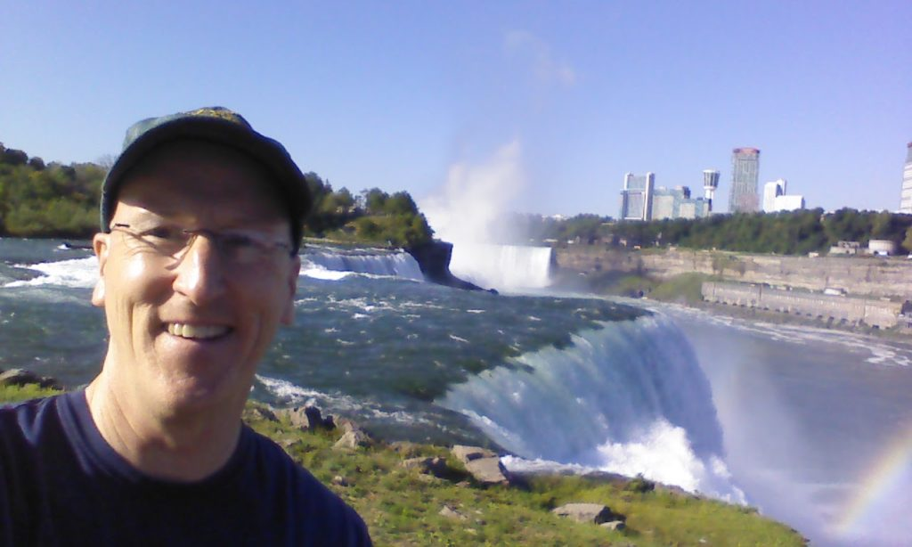 Mark at the American side of Niagara Falls.